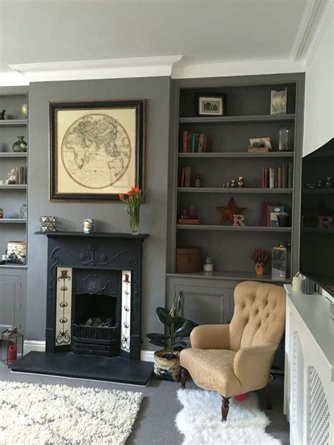 brilliant built  shelves ideas  living room