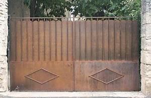 Portail Fer Forgé Plein : portail fer plein portail jardin sur mesure sfrcegetel ~ Dailycaller-alerts.com Idées de Décoration