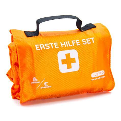 erste hilfe set erste hilfe rolle explorer 59 teilig orange flexeo