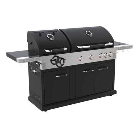 jamie oliver dual fuel matt black  burner  charcoal bbq jamie oliver barbecues