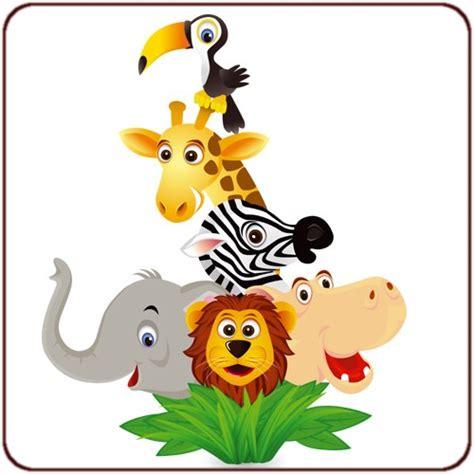deco chambre bebe design sticker animaux de la jungle un sticker jungle pour
