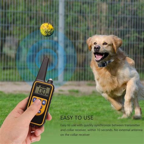 wodondog pet dog training shock collar stop barking device