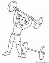 Weightlifting sketch template