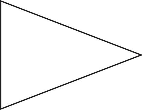 triangle banner template pin triangle flag outline clip vector royalty free on clipart best clipart