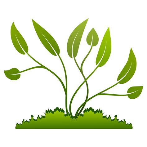 Plant Clip Plants Growing Out Of The Ground Vector Clipart Image