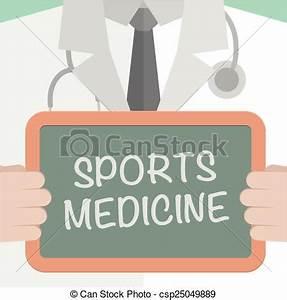 Vector of Sports Medicine - minimalistic illustration of a ...