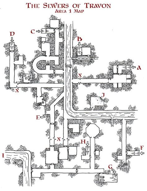 friday map  sewers  travon dysons dodecahedron