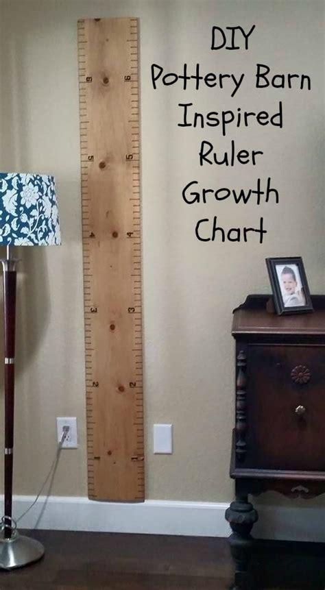 diy pottery barn inspired ruler growth chart