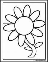 Daisy Coloring Pages Flower Preschool Petal Single Outline Template Pdfs Customizable Clipartmag Colorwithfuzzy sketch template