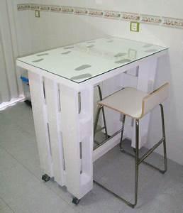 Table Pour Petite Cuisine : am nagement studio tudiant avec des meubles en palettes ~ Dailycaller-alerts.com Idées de Décoration