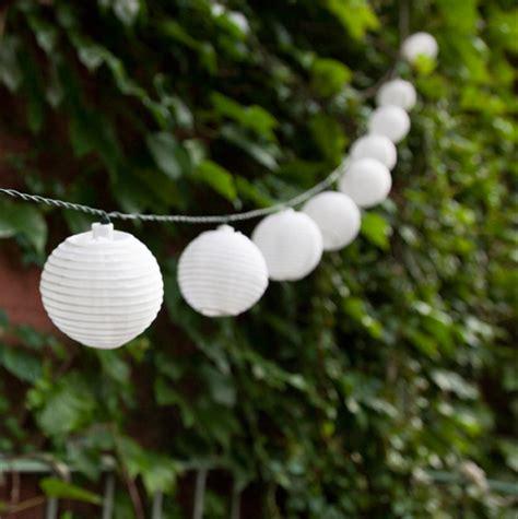 white solar mini lantern string lights strand of 30