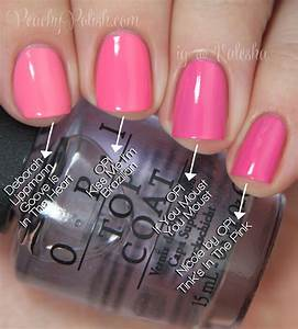 OPI: Brazil Collection Comparisons - Peachy Polish  Opi