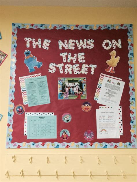preschool parent information bulletin boards sesame theme preschool parent board my sesame 662