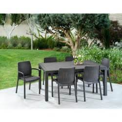 Ensemble Table Et Fauteuils De Jardin En Résine Tressée 9117 2 by Keter Ensemble Melody Table 160cm 6 Fauteuils En R 233 Sine