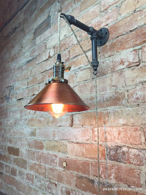industrial sconces industrial style sconce pendant l copper shade edison