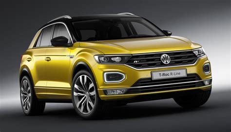 vw t roc 2019 2019 vw t roc r line tiguan r line uk pricing and spec