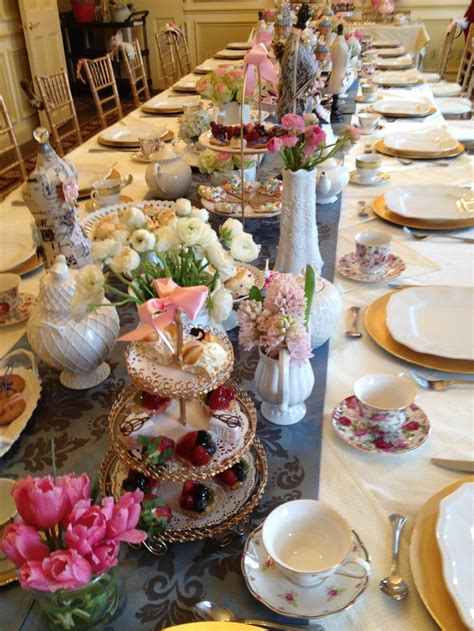 tea party table settings ideas table set up for high tea party tea party pinterest
