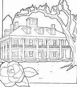 Coloring Adults Mansion Haunted Sheets Houses Printable Fantasy Getcolorings Preschoolers Preschool Monster sketch template