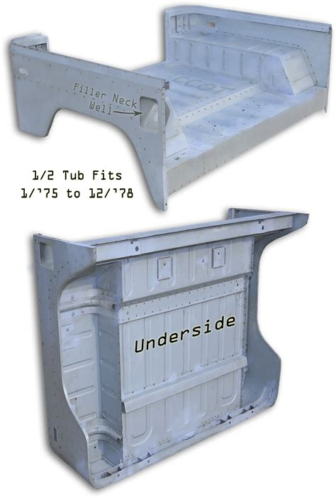fj40 steel tub hfs tub fj40 bj40 1 2 tub fits 1 75 to