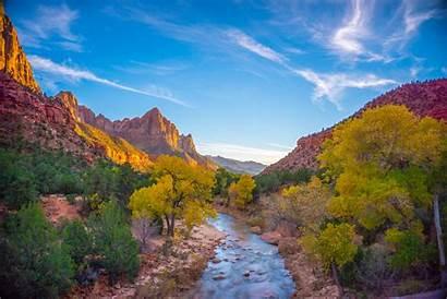 Zion National Park Spring Visit Canyon Sunset