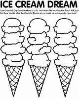 Coloring Crayola Ice Cream sketch template
