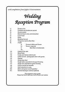 6 best images of reception agenda printable wedding With wedding reception agenda template