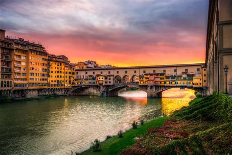 Ponte Vecchio Sunset - Florence, Italy   Our first night ...