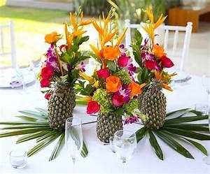 Deco Table Tropical : l ananas pour un mariage acidul et tropical l le maurice oui au soleil ~ Teatrodelosmanantiales.com Idées de Décoration