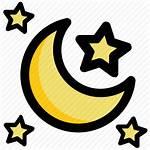 Icon Night Moon Evening Stars Nighttime Icons