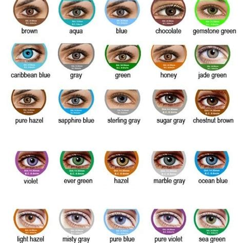 eye colors list fresh contact lenses shopsmall buy now 9 99