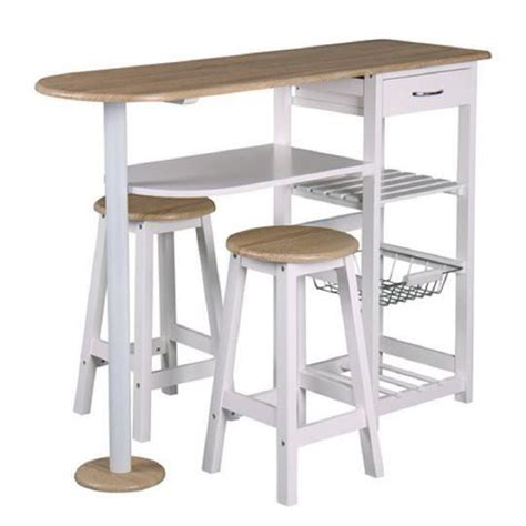 cdiscount table de cuisine table bar et 2 tabourets top chef achat vente table de