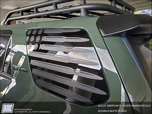 Toyota 4runner Bullet American Flag Side Window Decal