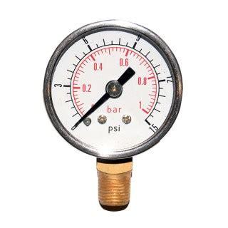 siege de bureau baquet manomètre 0 1 bar 1 8x27 npf 0 15 psi