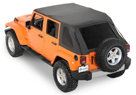 jeep wrangler unlimited soft top rage products 106035 complete trail top frameless soft