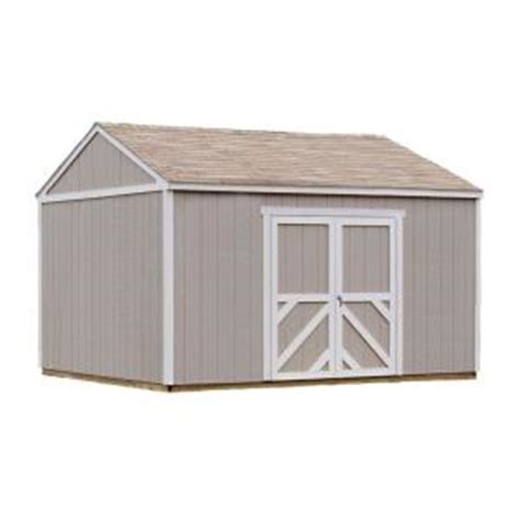 metal shed kits home depot handy home products columbia 12 ft x 16 ft wood storage
