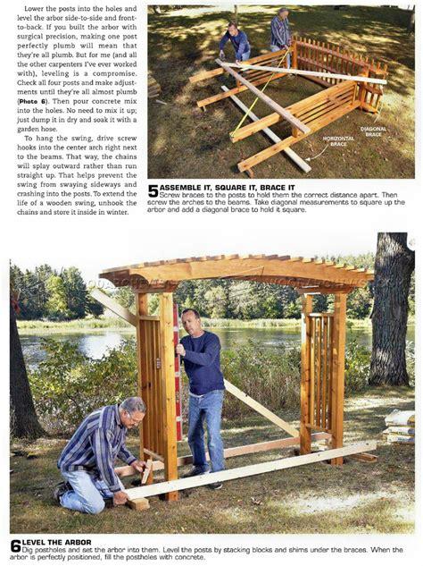 garden arbor plans woodarchivist