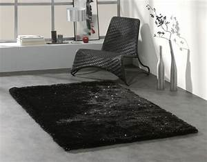 tapis shaggy brillant noir dominus With tapis shaggy brillant