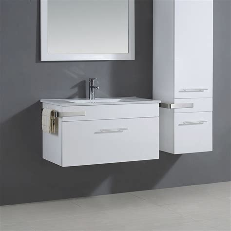 fresca bradford   bathroom vanity  gray