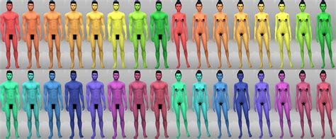 Mod The Sims Maxis Match Skintones 54 New Skins For