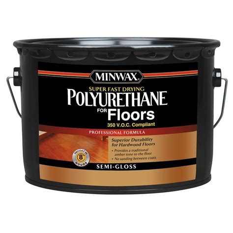 Minwax Fast Drying Polyurethane For Floors by Minwax 2 5 Gal Semi Gloss Fast Drying Polyurethane