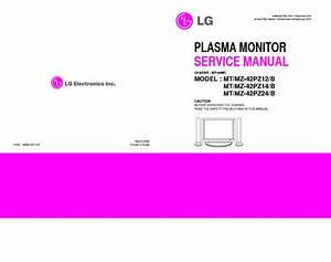 Lg Mp00mc Chassis Mt42pz12 Plasma Tv Sm Service Manual