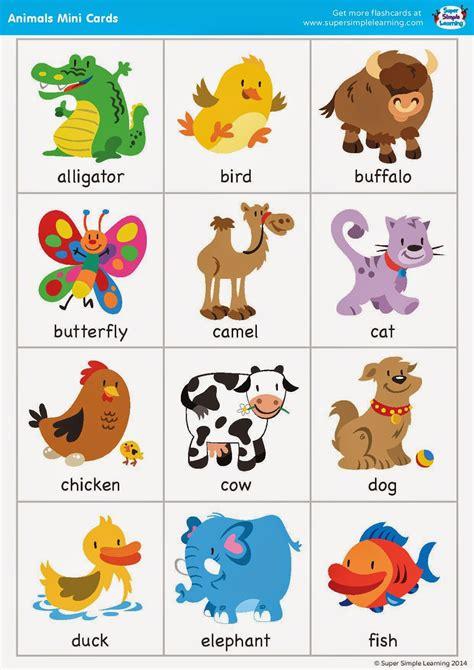 free printable animal flash cards