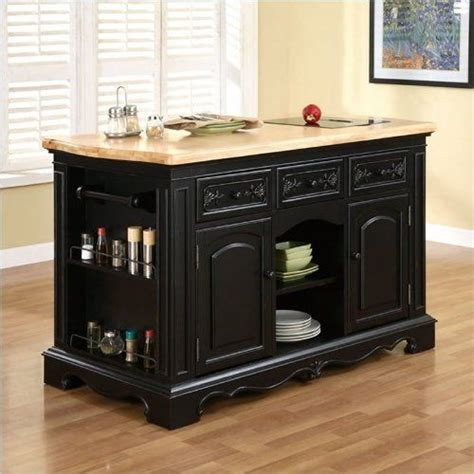powell kitchen islands powell furniture pennfield butcher block black kitchen 1620
