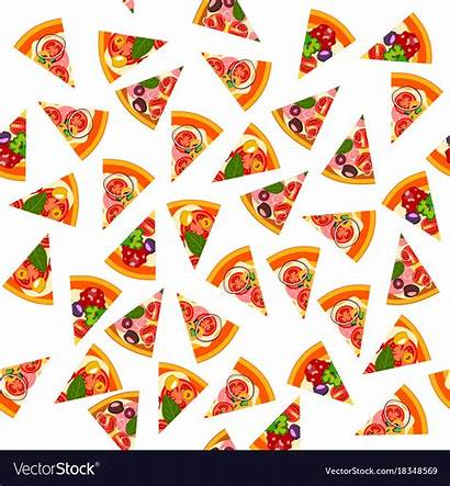 Pizza Background Pattern Vector Seamless Royalty