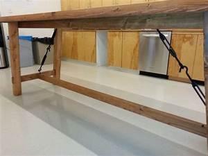 custom made bar height harvest table With counter height harvest table