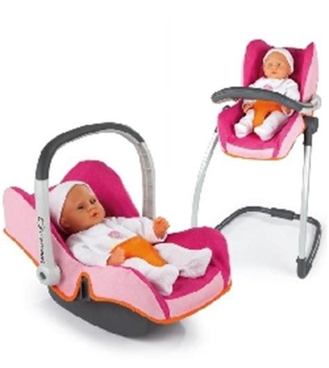 siege auto pour poupon chaise haute balancelle siège auto 3 en 1 jouet et cie
