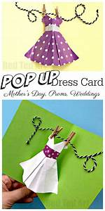 Pop Up Dress Card for Mother's Day - Red Ted Art's Blog