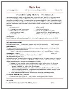 resume logistics operations manager sle resume gallery your career forward