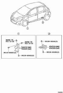 2014 Toyota Yaris Spoiler Cap  Right  Rear   Cover