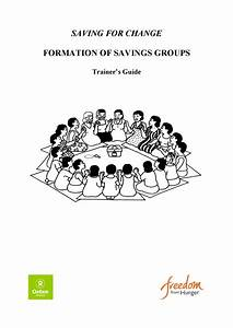 Saving For Change  Formation Of Savings Groups  Trainer Guide